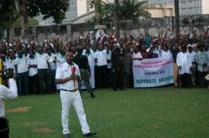 Prince Tonye Princewill adressing members of PPA at the Rivers State Government house