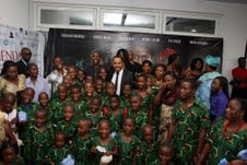PRINCEWILL WITH THE ORPHANS