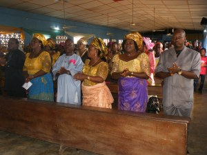 A cross section of the parishioners