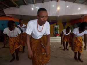 Front, Youth President, Orji Ignatius  and his Dancing Group doing what they know best to do