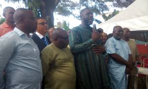 HON OJUKAYE FLAG-AMACHREE RS APC CHAIRMAN WITH OTHER SWC MEMEERS SWEARING IN CEREMONY 0012